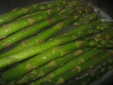 Steamed Asparagus and Linguini