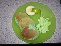 Green Buttermilk Pancakes