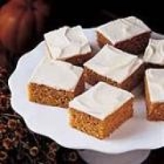 Pumpkin Cake Bars with Frosting