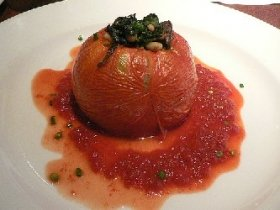 Baked Tomatoes Stuffed With Spinach