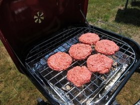 Barbecued Hamburger Patties