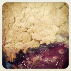 Blueberry Pear Cobbler