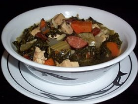 Cabbage Orzo & Sausage Soup