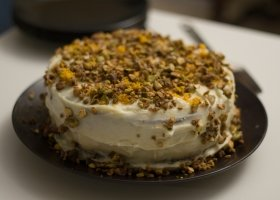 Carrot Nut Cake Homemade