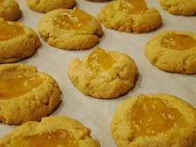 Cornmeal Guava Thumbprint Cookies