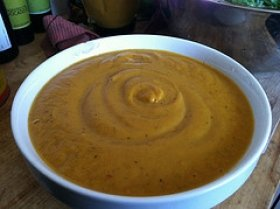 Homemade Apple and Butternut Squash Soup