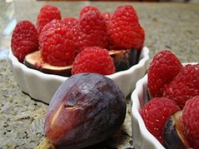 Raspberry with Fig Gratin