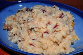 Rice Pudding with Dried Fruits