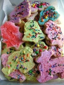 Traditional Decorated Christmas Cookies