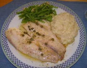 Tilapia with Garlic Butter