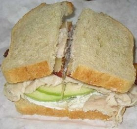 Smoked Turkey and Apple Sandwich